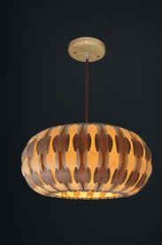 drum lamp made of wood veneer