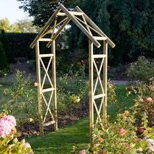 Small Picture Blooma Softwood Apex Top Arch Arbors Gardens and Small garden