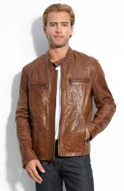 lyst marc new york leather motocross jacket in brown for men