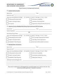 Customer Form Template Template Feedback Forms Template Customer Sample Questions Resume