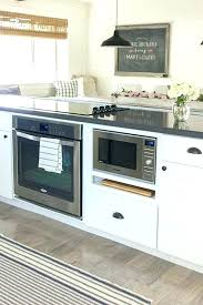 kitchen island with microwave appliance arrangement range gas oven and all on the storage full size