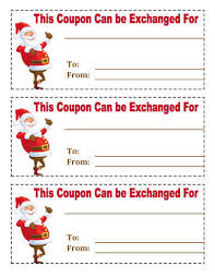 christmas certificates templates 21 free printable christmas coupons