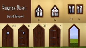 Medieval Doors mod the sims prosperous peasant medieval door and window set 1291 by xevi.us