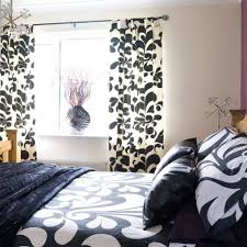 Striped Bedroom Curtains Black And White Striped Curtains For Bedroom Free Image