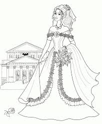 Fashion Dress Coloring Pages For Your