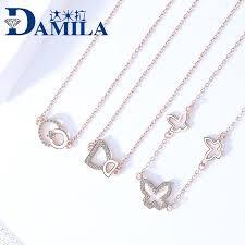 Damira <b>S925 pure</b> silver <b>jewelry women</b> Korean version all kinds of ...