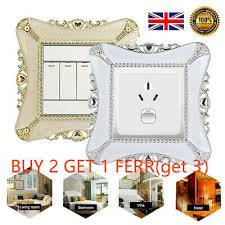 wall resin socket plate switch surround