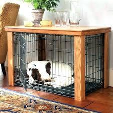 luxury dog crates furniture. Luxury Dog Crates Furniture. Cage Furniture Double Crate Wooden Table Cover .