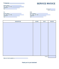 Free Service Invoice Template Excel Pdf Word Doc Invoices Uk Adobe