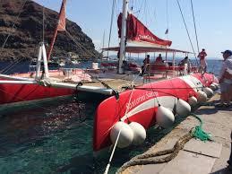 Dream Catcher Boat Santorini Dreamcatcher docked at Ammoudi Picture of Santorini Sailing 8