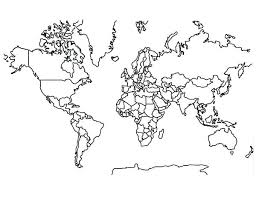 Coloring Pages World Map Print World Map Coloring Page In Full Size