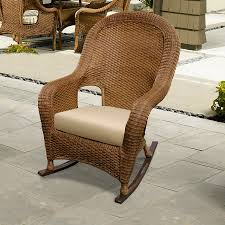 monaco high back outdoor wicker rocker