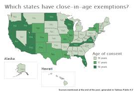 States Age Of Consent Chart When The Age Of Consent Is Just A Number The Peruser Medium