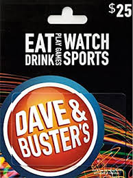 Dave & Busters Gift Card $25: Gift Cards - Amazon.com