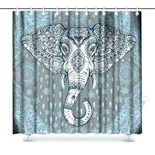 elephant print curtains beautiful bohemian paisley ethnic with tribal polyester fabric shower curtain uk