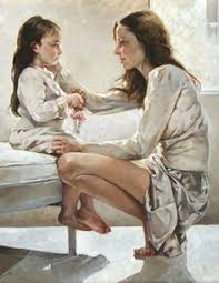 Image result for fine art of adult and child