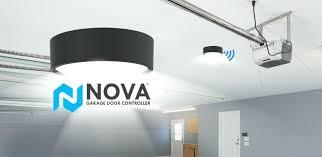 best wifi garage door opener is launching the nova a enabled universal garage door opener that