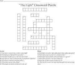 Day Light Crossword