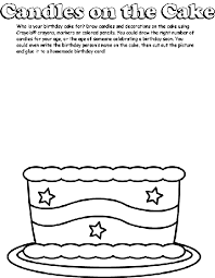 Small Picture Candles on the Cake Coloring Page crayolacom