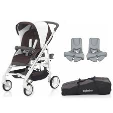 inglesina trilogy stroller with travel bag car seat adaptor caffe