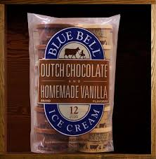 blue bell individual ice cream cups dutch chocolate vanilla only 4 weight watchers points each worth every point yum