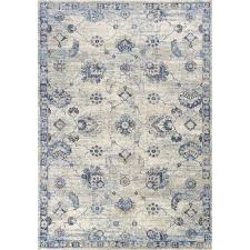 kas oriental rugs seville grey and blue runner 2 ft 2 in x 7 ft 6 in rug