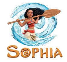 personalised any name moana wall decal
