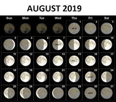 Full Moon Chart 2019 August 2019 Moon Phases Calendar Moon Phase Calendar New