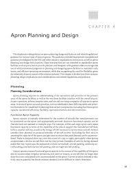 Airport Apron Pavement Design Chapter 4 Apron Planning And Design Apron Planning And