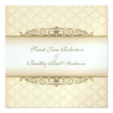 Baroque Wedding Invitations Gold Quilted Print Baroque Wedding Invitations Zazzle Co Uk