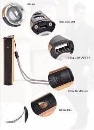 Đèn pin mini đi phượt siêu sáng kiêm sạc dự phòng đa năng tiện lợi (Tặng  móc khóa tô vít 3in1) - Đèn pin Thương hiệu OEM