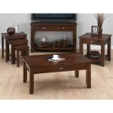Tapered Coffee Table Legs Jofran 731 1 One Drawer Coffee Table With Tapered Block Legs In