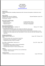 Summer Student Resume Sample Finance Student Job For College Samples And  Write A Objective 10 Writing ...