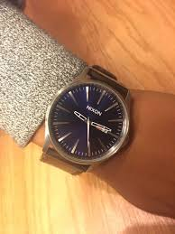 nixon leather band watch open to trade