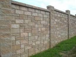 concrete fence design. Unique Concrete Block Fence With Pattern To Concrete Fence Design K