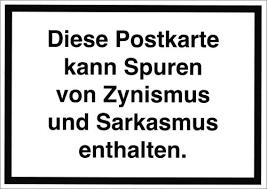 Postkarte Sprüche Humor Diese Postkarte Kann Spuren Von Zynismus