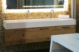 trough style sink. Beautiful Trough Double Faucet Trough Style Sink   Custom Bathroom  Designs For Commercial And  In