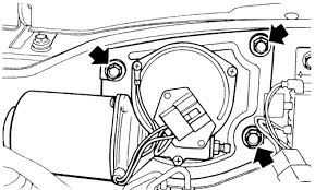 repair guides windshield wipers and washers windshield wiper 1 front wiper motor retainer bolts justy