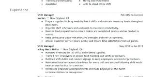 Resume For Fast Food Cashier Cashier Resume Objective Digiart