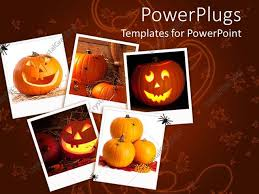 Powerpoint Template Halloween Collage With Pumpkins Jack O