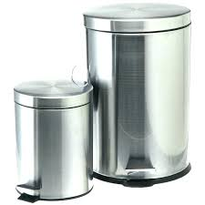 tin garbage cans decorative metal trash can outdoor stainless lids for galvanized at tr