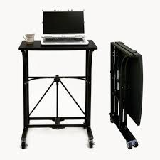 this laptop desk can be set up and folded away in 10 seconds work doesn