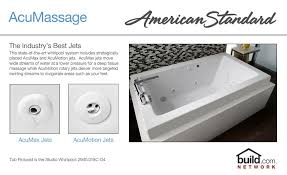 american standard 2711 048wc 178 black ellisse 72 acrylic whirlpool bathtub with center drain ecosilent system everclean technology and aassage jets