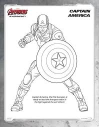 Marvels Avengers Age Of Ultron Printable Coloring Sheets