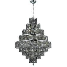 supernova 12 light chandelier chrome with silver shade grey crystal parts glass