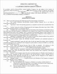 template for llc operating agreement llc operating agreement template gallery agreement letter format