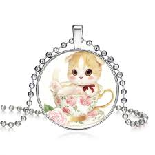 2 chains high quality girls silver plated cute