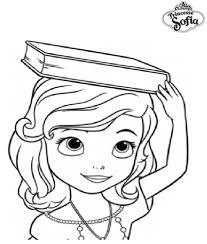Coloriage A Imprimer Princesse Sofia Apprend Le Maintien Gratuit Et