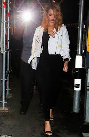 dazzling style rihanna looked a picture as she made her latest appearance for a night