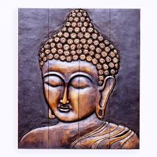 image of wooden buddha wall hanging